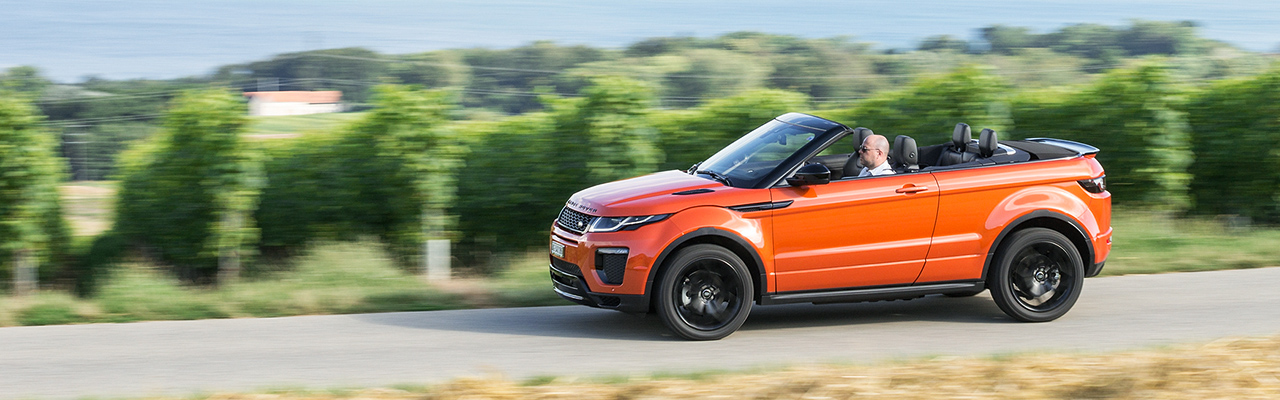 essai range rover evoque convertible un nouveau segment prometteur wheels and. Black Bedroom Furniture Sets. Home Design Ideas