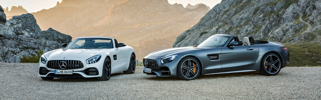 AMG GT  Roadster und AMG GT C Roadster (R 190), 2016 ;Kraftstoffverbrauch kombiniert: 11,4 - 9,4 l/100 km, CO2-Emissionen kombiniert: 259-219 g/km AMG GT  Roadster and AMG GT C Roadster (R 190), 2016; fuel consumption, combined: 11.4-9.4 l/100 km; combined CO2 emissions: 259-219 g/km